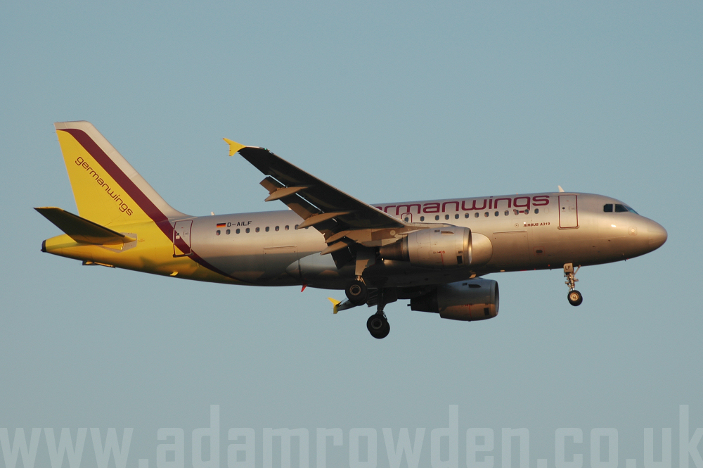 Photo of Germanwings Airbus A319-114 D-AILF (cn 636) at London Stansted Airport (STN) on 17th August 2005