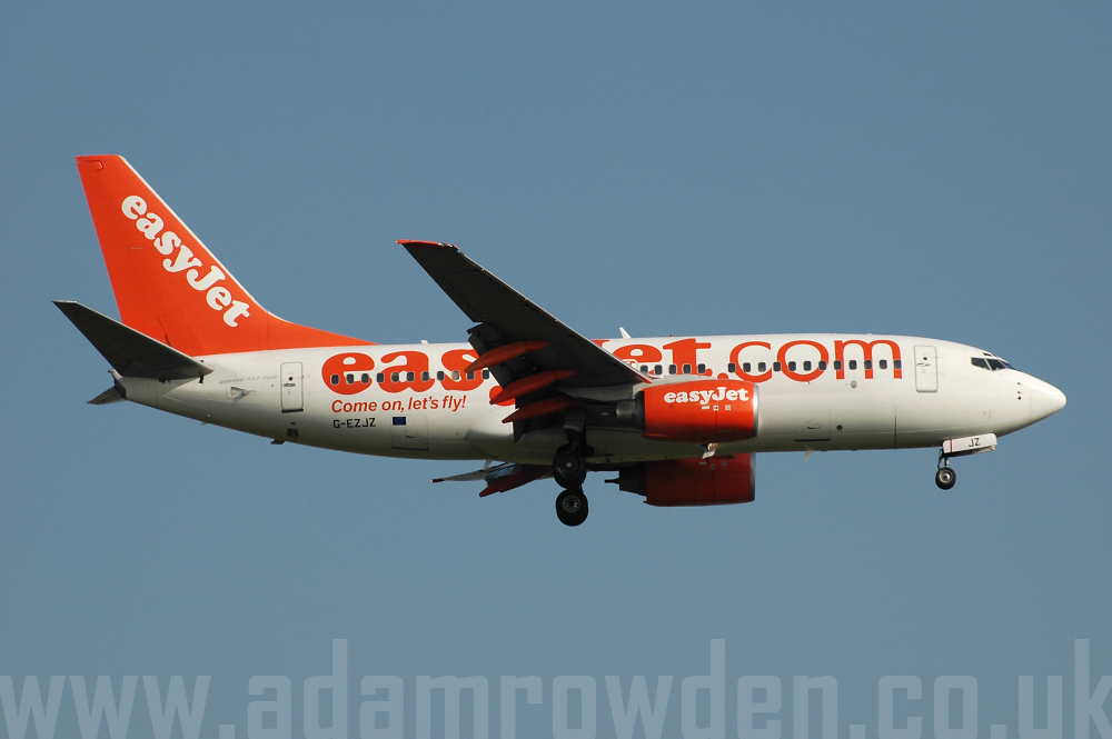 Photo of easyJet Boeing 737-73V G-EZJZ (cn 32421/1357) at London Stansted Airport (STN) on 17th August 2005