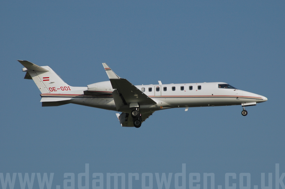 Photo of Untitled (Denzel Austria) Learjet 45 OE-GDI (cn 45-037) at London Stansted Airport (STN) on 17th August 2005