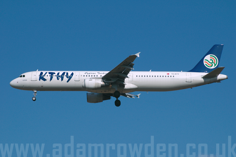 Photo of KTHY Cyprus Turkish Airlines Airbus A321-211 TC-KTY (cn 1012) at London Stansted Airport (STN) on 26th August 2005