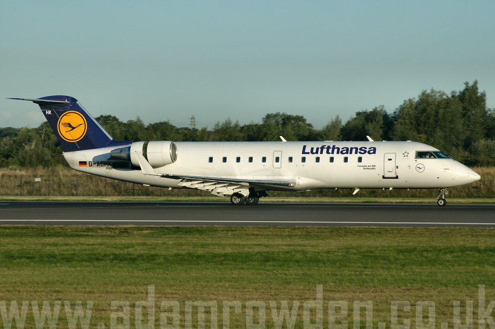 Photo of Lufthansa Regional (opb Cityline) Bombardier CRJ-200LR D-ACHK (cn 7499) at Manchester Ringway Airport (MAN) on 16th September 2005