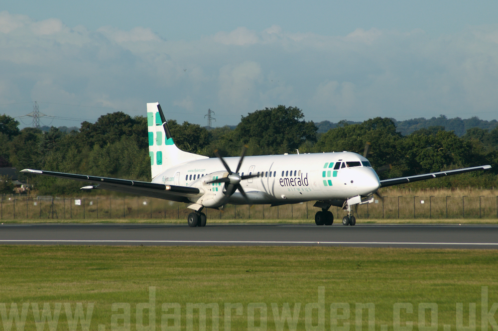 Photo of Emerald Airways (FlyJem) British Aerospace BAe ATP G-JEMA (cn 2028) at Manchester Ringway Airport (MAN) on 16th September 2005