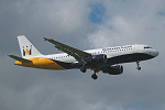 Photo of Monarch Airlines Airbus A320-214 G-OZBK (cn 1370) at Manchester Ringway Airport (MAN) on 16th September 2005