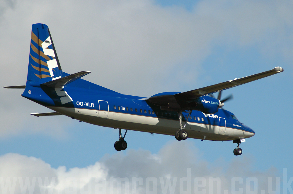 Photo of VLM Airlines Fokker 50 OO-VLR (cn 20121) at Manchester Ringway Airport (MAN) on 16th September 2005