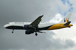 Photo of Monarch Airlines Airbus A320-212 G-MPCD (cn 379) at London Stansted Airport (STN) on 29th September 2005