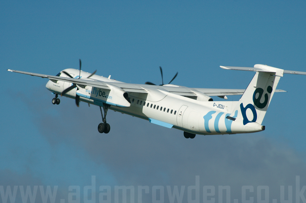 Photo of Flybe De Havilland Canada DHC-8-402Q Dash 8 G-JEDU (cn 4089) at London Luton Airport (LTN) on 1st October 2005
