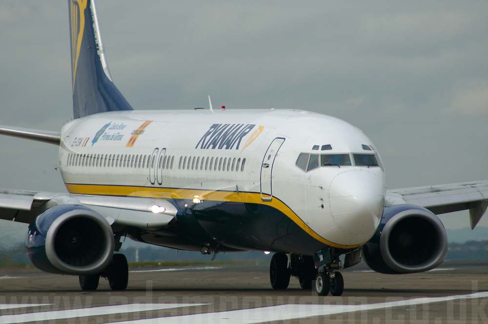 Photo of Ryanair Boeing 737-8AS EI-CSW (cn 29935/1061) at Liverpool John Lennon Airport (LPL) on 14th October 2005