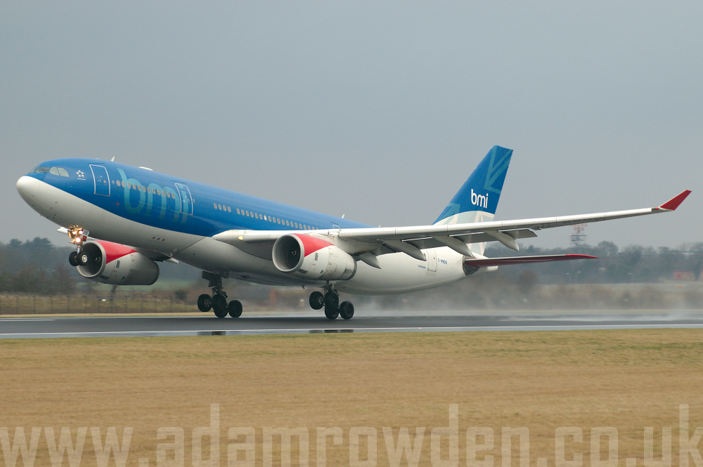 Photo of bmi Airbus A330-243 G-WWBB (cn 404) at Manchester Ringway Airport (MAN) on 16th January 2006