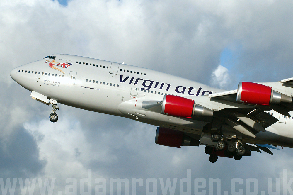 Photo of Virgin Atlantic Airways Boeing 747-443 G-VROY (cn 32340/1277) at Manchester Ringway Airport (MAN) on 20th January 2006