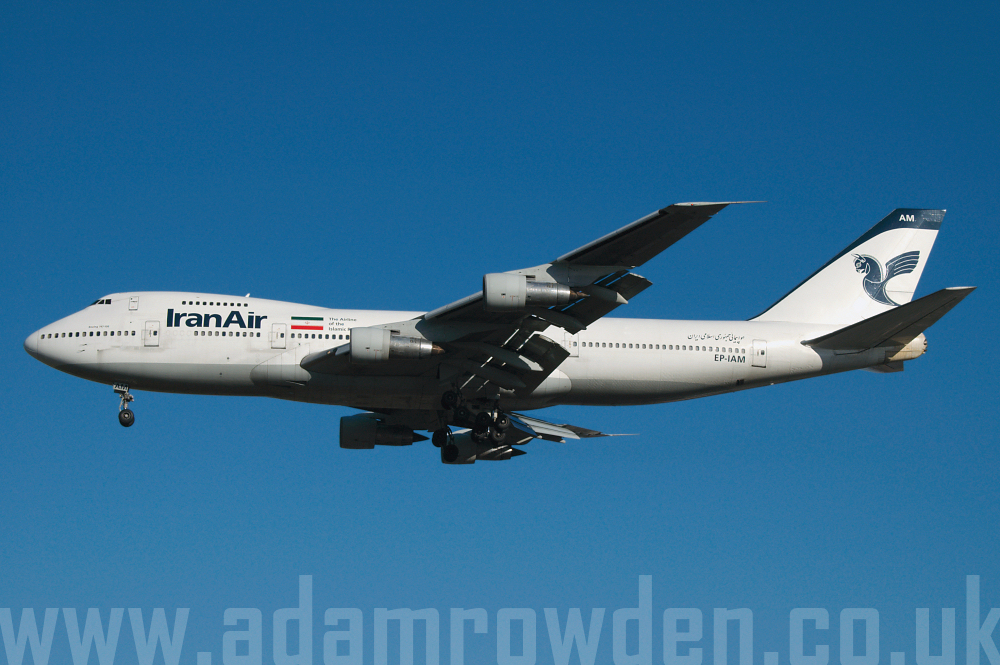 Photo of Iran Air Boeing 747-186B EP-IAM (cn 21759/381) at London Heathrow Airport (LHR) on 9th February 2006