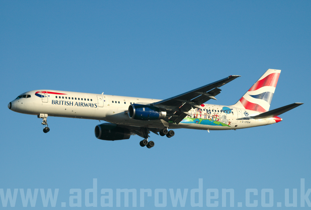 Photo of British Airways Boeing 757-236 G-CPEM (cn 28665/747) at London Heathrow Airport (LHR) on 9th February 2006