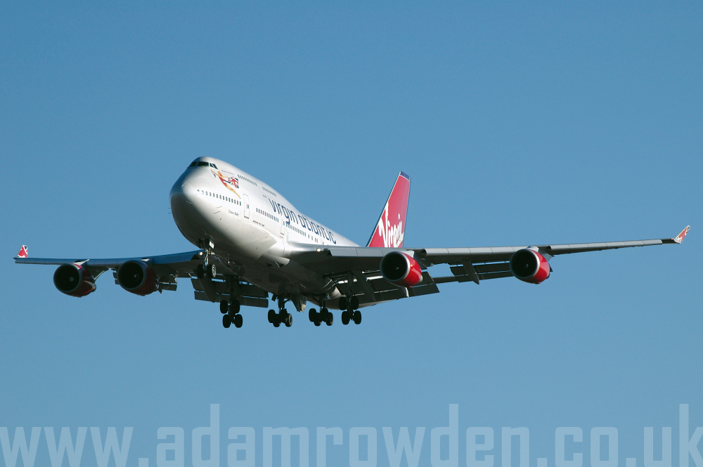 Photo of Virgin Atlantic Airways Boeing 747-4Q8 G-VBIG (cn 26255/1081) at London Heathrow Airport (LHR) on 9th February 2006