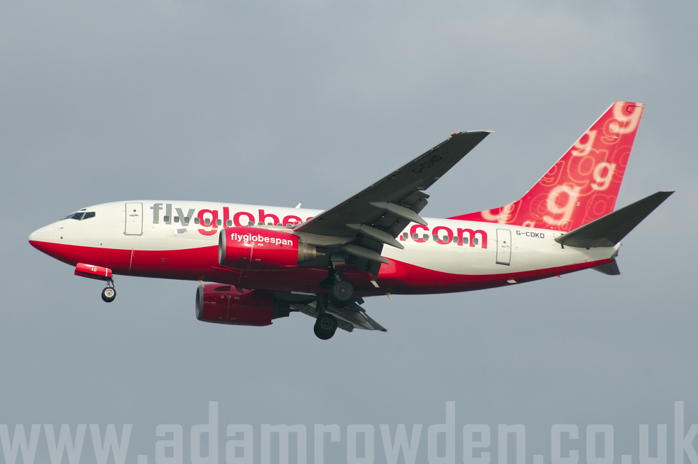 Photo of Flyglobespan Boeing 737-683 G-CDKD (cn 28302/243) at London Stansted Airport (STN) on 13th March 2006