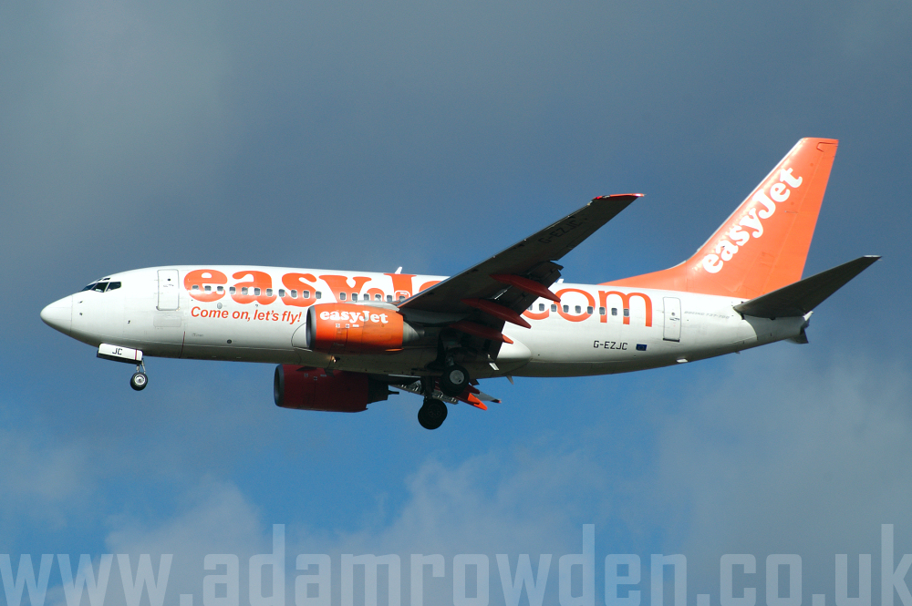Photo of easyJet Boeing 737-73V G-EZJC (cn 30237/730) at London Stansted Airport (STN) on 28th March 2006