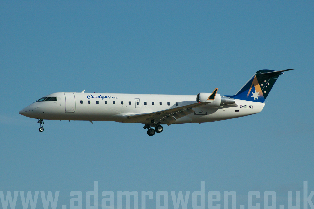 Photo of Citelynx Travel Bombardier CRJ-200ER G-ELNX (cn 7508) at London Stansted Airport (STN) on 4th April 2006