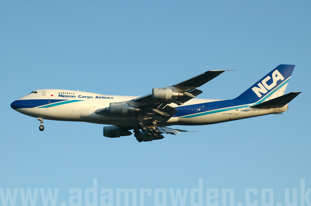 Photo of Nippon Cargo Airlines Boeing 747-281F JA8167 (cn 23138/604) at London Stansted Airport (STN) on 12th April 2006