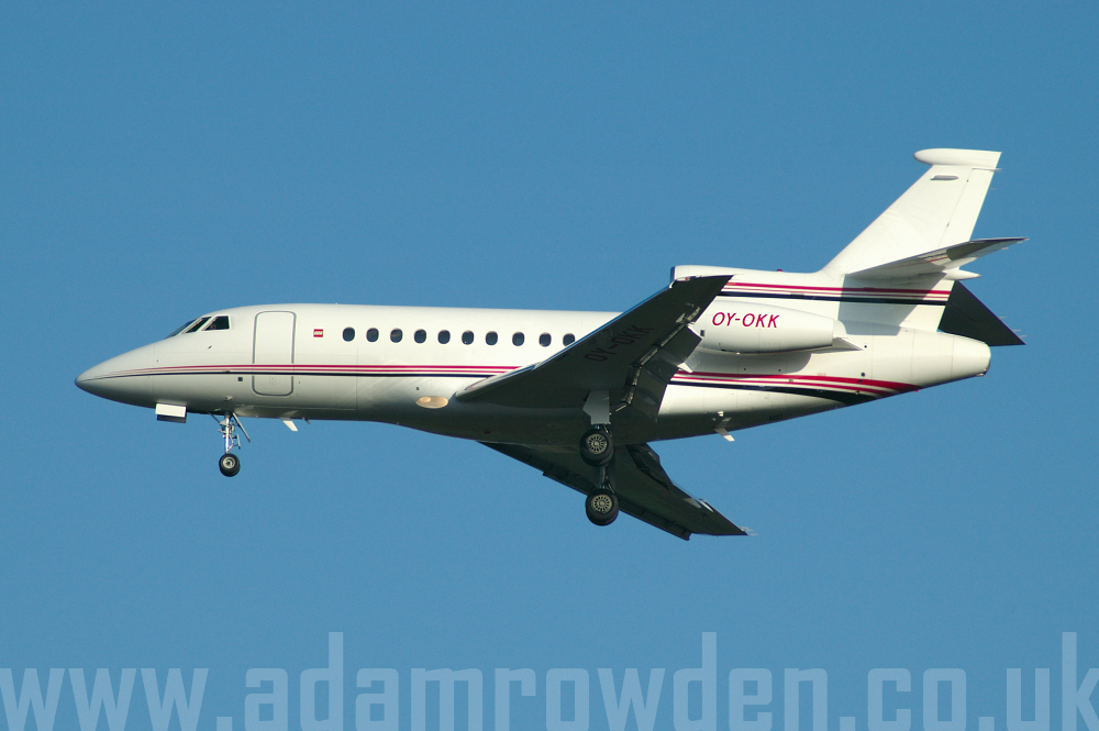 Photo of Untitled (LEGO Group) Dassault Falcon 900EX OY-OKK (cn 128) at London Stansted Airport (STN) on 12th April 2006