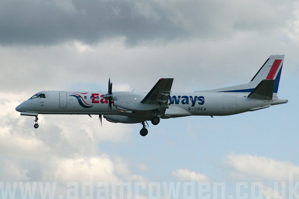 Photo of Eastern Airways SAAB 2000 G-CDEA (cn 009) at Newcastle Woolsington Airport (NCL) on 19th April 2006