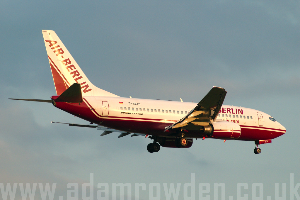 Photo of Air Berlin Boeing 737-76Q D-ABAB (cn 30277/947) at London Stansted Airport (STN) on 5th May 2006