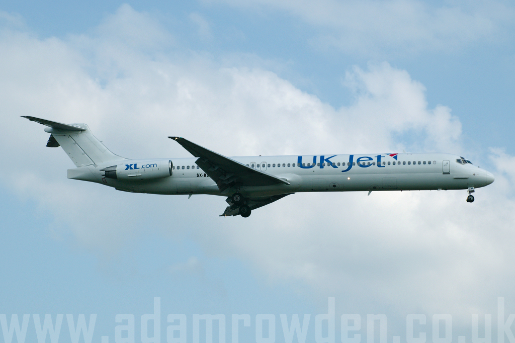 Photo of UK Jet (opf Ford Air) McDonnell Douglas MD-83 SX-BSW (cn 49949/1906) at London Stansted Airport (STN) on 5th May 2006