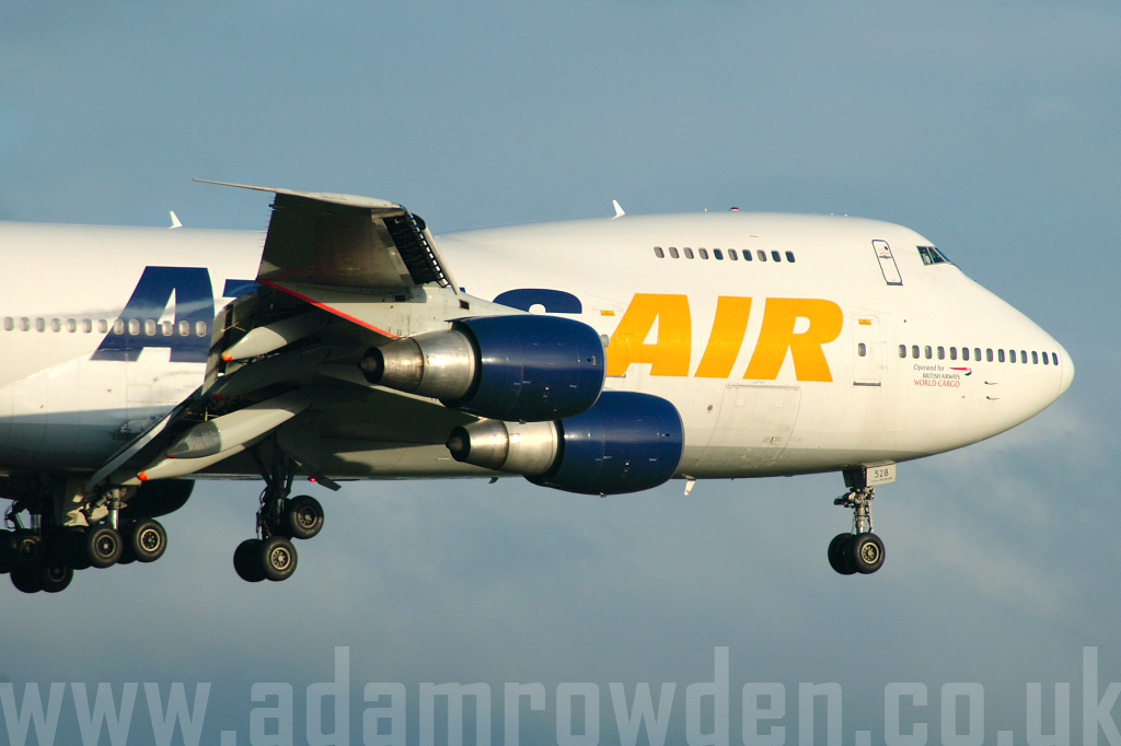 Photo of Atlas Air Boeing 747-2D7B(SF) N528MC (cn 22472/597) at London Stansted Airport (STN) on 21st May 2006