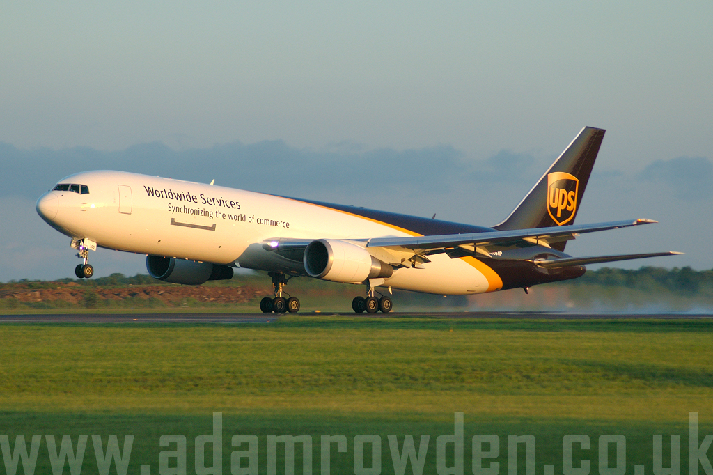 Photo of United Parcel Service Boeing 767-34AF N305UP (cn 27243/600) at London Stansted Airport (STN) on 29th May 2006