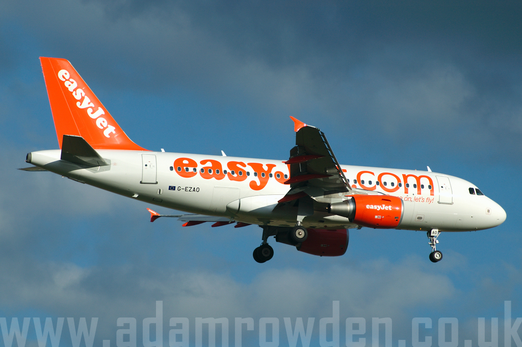 Photo of easyJet Airbus A319-111 G-EZAO (cn 2769) at London Stansted Airport (STN) on 21st June 2006