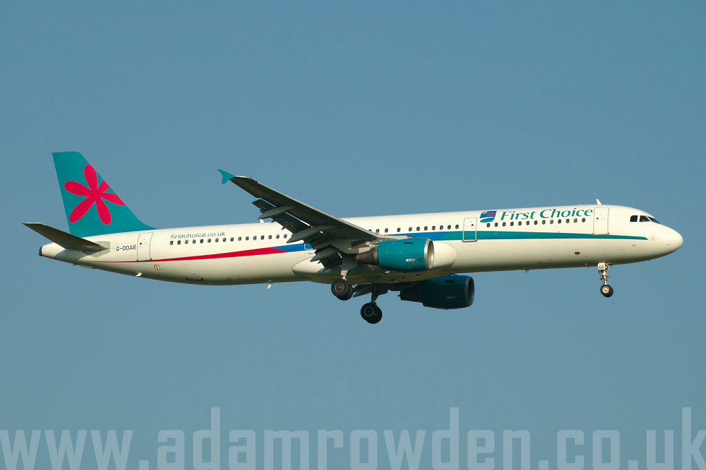 Photo of First Choice Airways Airbus A321-211 G-OOAE (cn 852) at London Stansted Airport (STN) on 30th June 2006