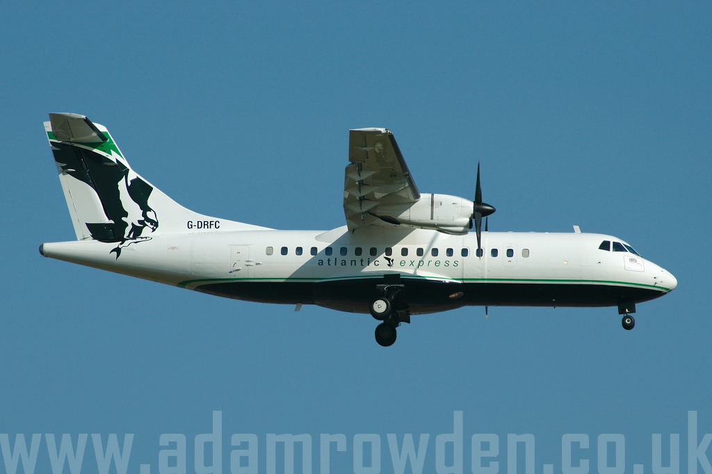 Photo of Atlantic Express Aérospatiale ATR-42-300 G-DRFC (cn 007) at London Stansted Airport (STN) on 12th July 2006