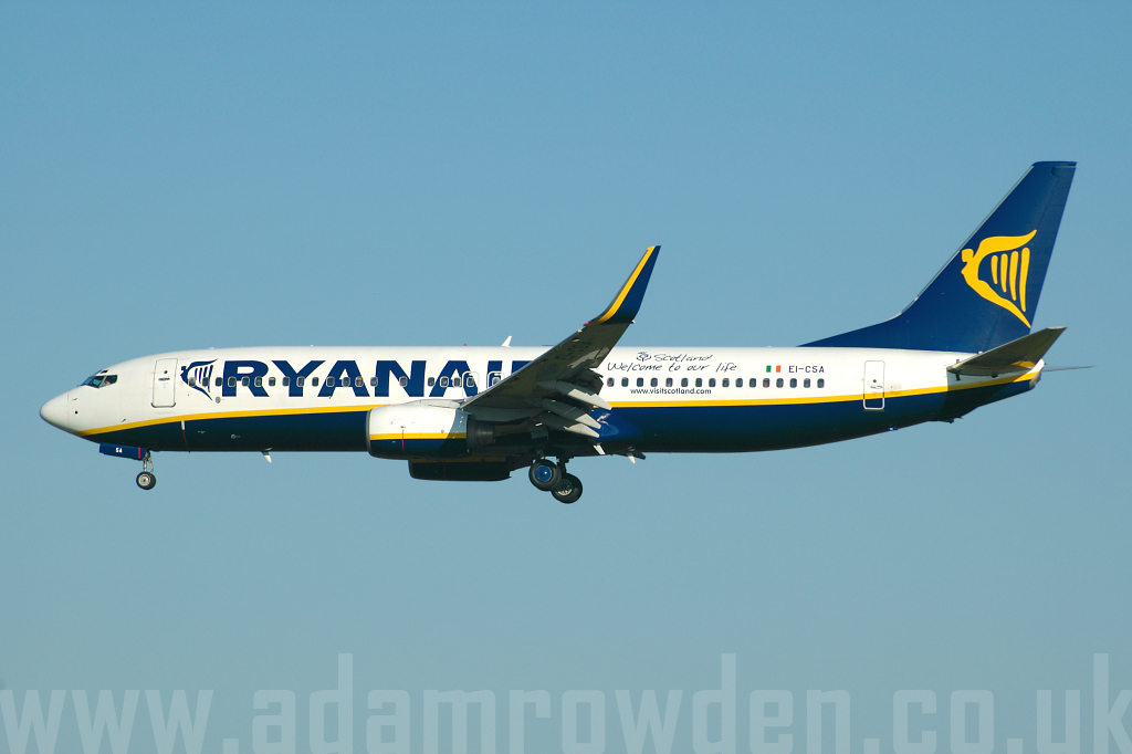 Photo of Ryanair Boeing 737-8AS(W) EI-CSA (cn 29916/210) at London Stansted Airport (STN) on 18th July 2006