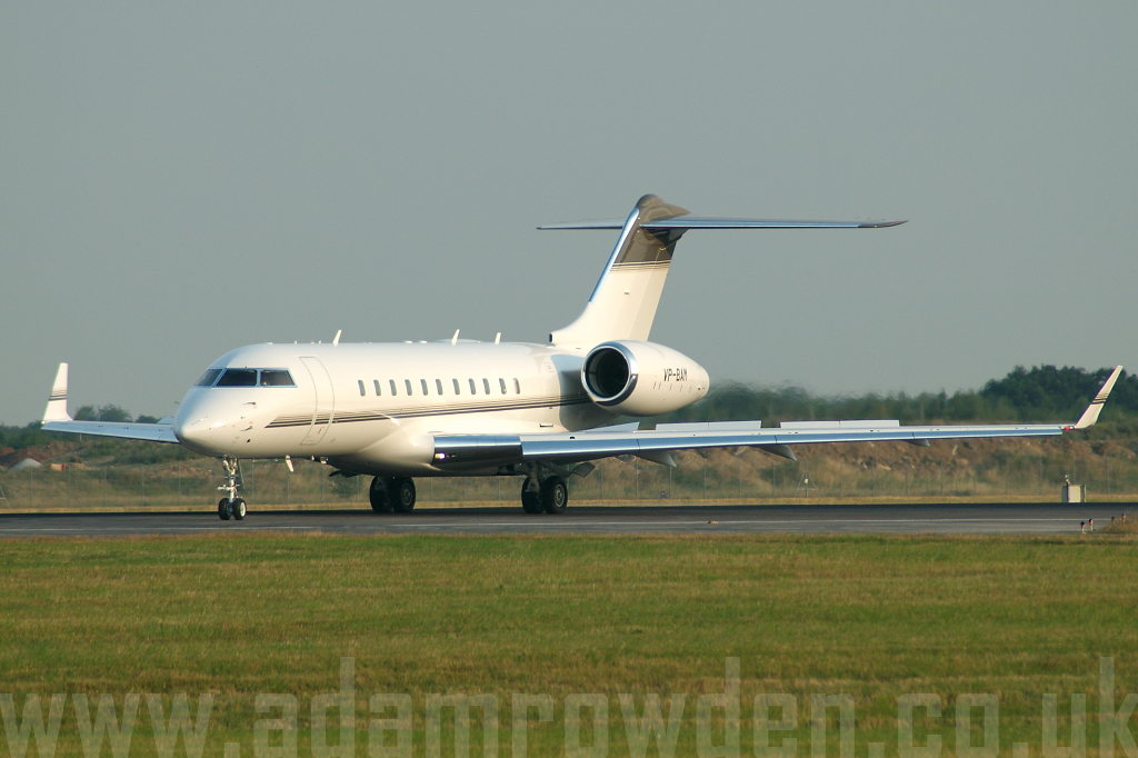 Photo of Untitled (Theberton Limited) Bombardier BD-700 Global Express VP-BAM (cn 9157) at London Stansted Airport (STN) on 19th July 2006