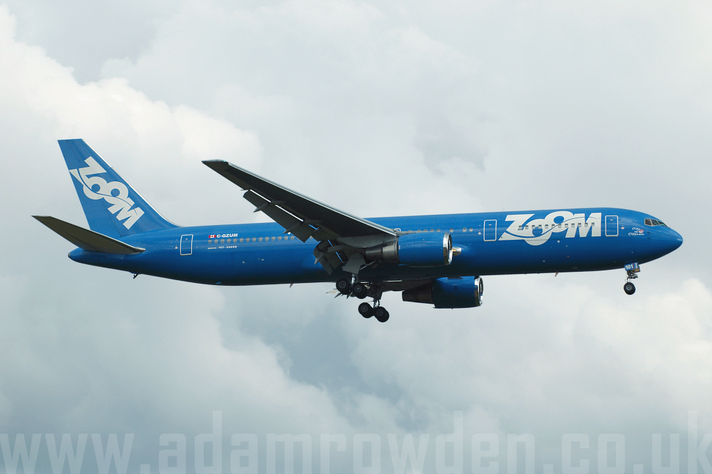 Photo of Zoom Airlines Boeing 767-328ER C-GZUM (cn 27135/493) at London Stansted Airport (STN) on 17th August 2006
