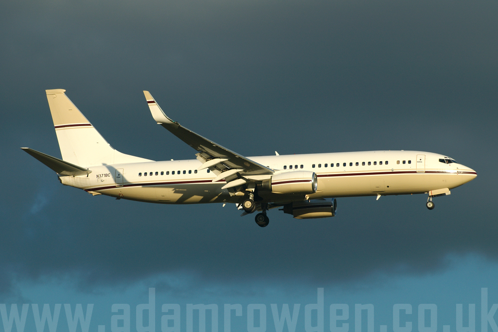 Photo of Mid East Jet Boeing 737-8EF (BBJ2) N371BC (cn 32971/996) at London Stansted Airport (STN) on 17th August 2006