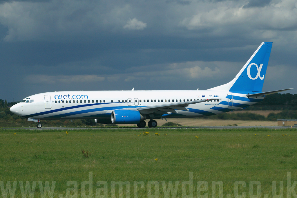 Photo of Ajet Boeing 737-86N 5B-DBI (cn 30807/829) at London Luton Airport (LTN) on 29th August 2006