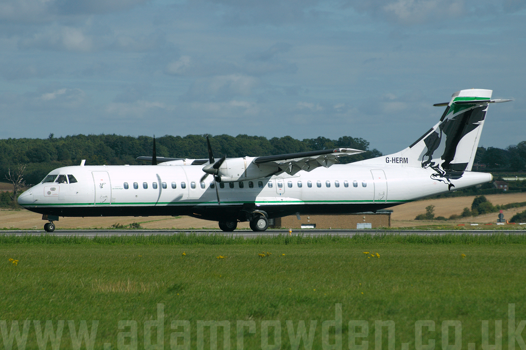 Photo of Air Atlantique Aérospatiale ATR-72-201 G-HERM (cn 145) at London Luton Airport (LTN) on 29th August 2006