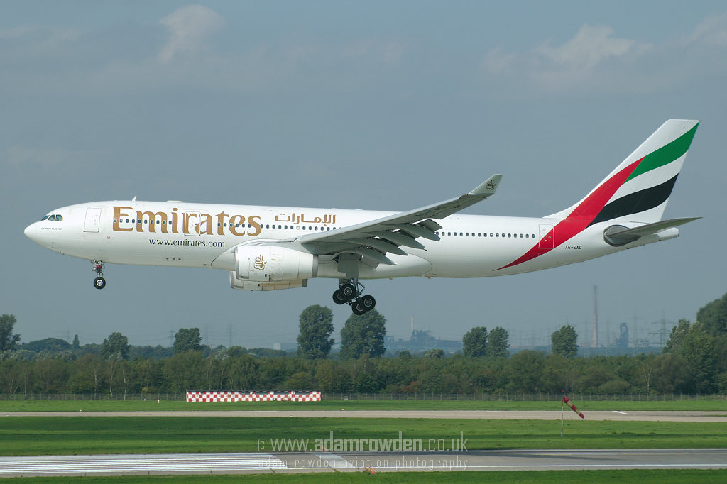 Photo of Emirates Airbus A330-243 A6-EAG (cn 396) at Dusseldorf International Airport (DUS) on 6th September 2006