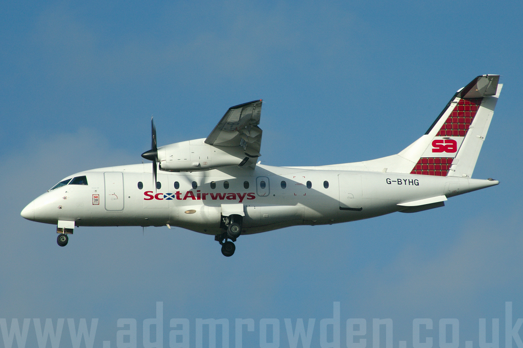 Photo of ScotAirways Dornier 328-110 G-BYHG (cn 3098) at London Stansted Airport (STN) on 30th December 2006