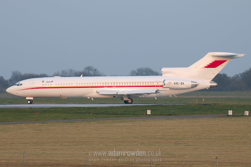 Photo of Bahrain Amiri Flight Boeing 727-2M7Adv(RE) Super 27 A9C-BA (cn 21824/1595) at London Stansted Airport (STN) on 2nd April 2007