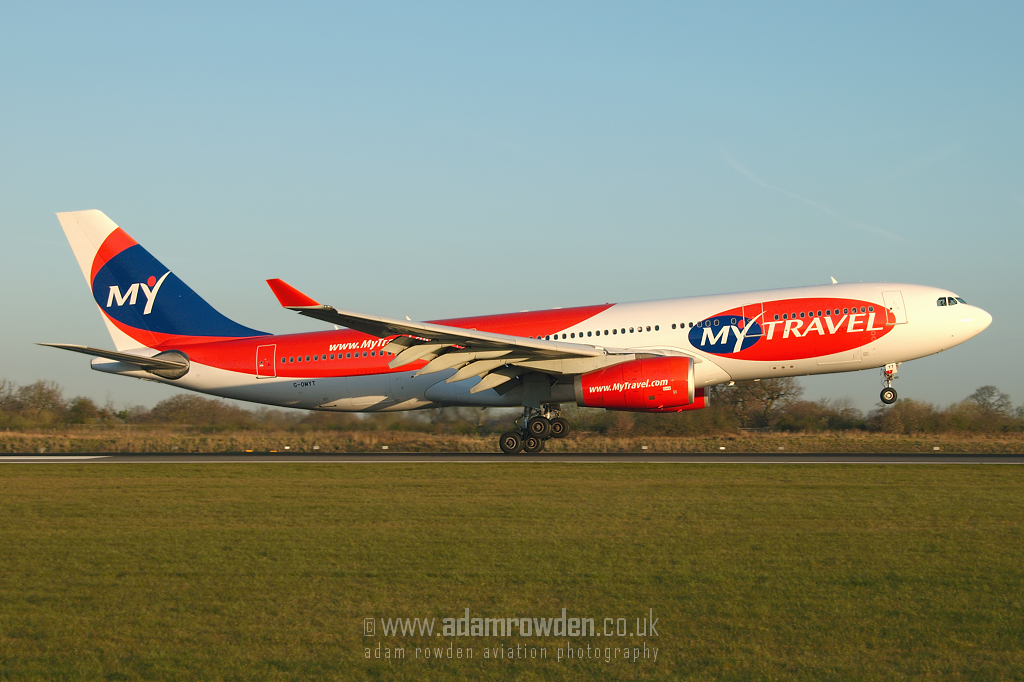 Photo of MyTravel Airways Airbus A330-243 G-OMYT (cn 301) at Manchester Ringway Airport (MAN) on 4th April 2007