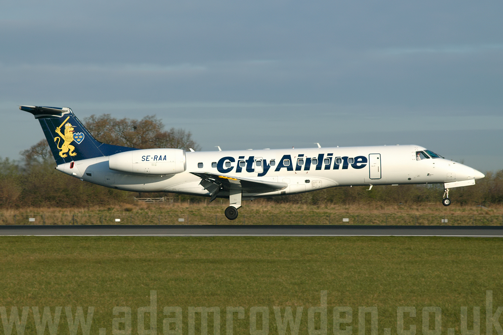Photo of City Airline Embraer ERJ-135ER SE-RAA (cn 14500210) at Manchester Ringway Airport (MAN) on 4th April 2007