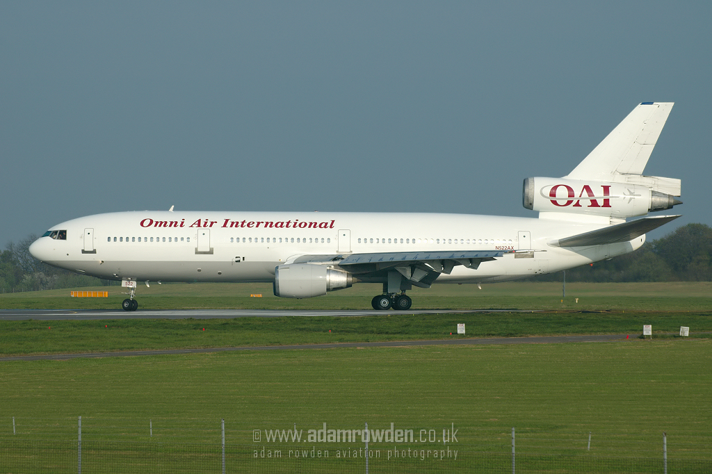 Photo of Omni Air International Douglas DC-10-30ER N522AX (cn 48315/436) at London Stansted Airport (STN) on 14th April 2007