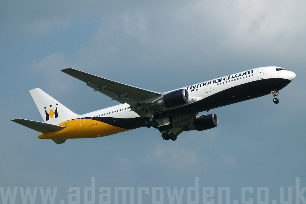 Photo of Monarch Airlines Boeing 767-31KER G-DIMB (cn 28865/657) at Manchester Ringway Airport (MAN) on 9th June 2007