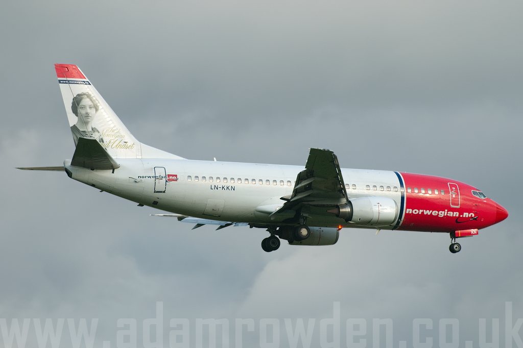Photo of Norwegian Air Shuttle Boeing 737-3Y0 LN-KKN (cn 24910/2030) at London Stansted Airport (STN) on 28th June 2007