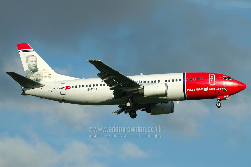 Photo of Norwegian Air Shuttle Boeing 737-3K2 LN-KKH (cn 24328/1856) at London Stansted Airport (STN) on 17th July 2007