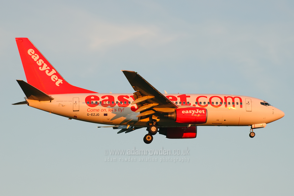 Photo of easyJet Boeing 737-73V G-EZJO (cn 30244/1148) at London Stansted Airport (STN) on 18th July 2007