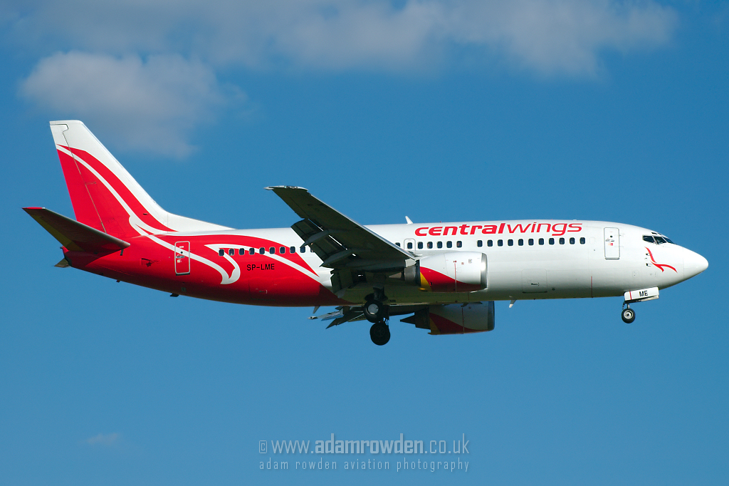 Photo of Centralwings Boeing 737-36N SP-LME (cn 28590/3097) at London Stansted Airport (STN) on 18th July 2007