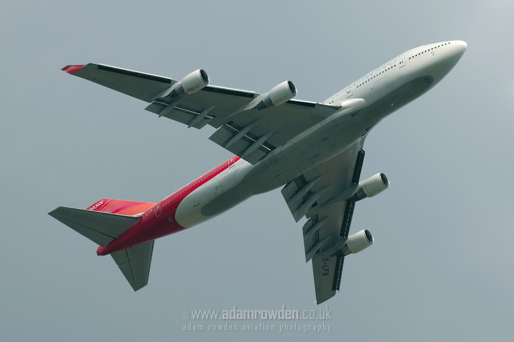 Photo of Oasis Hong Kong Airlines Boeing 747-412 B-LFB (cn 24065/761) at London Stansted Airport (STN) on 11th August 2007