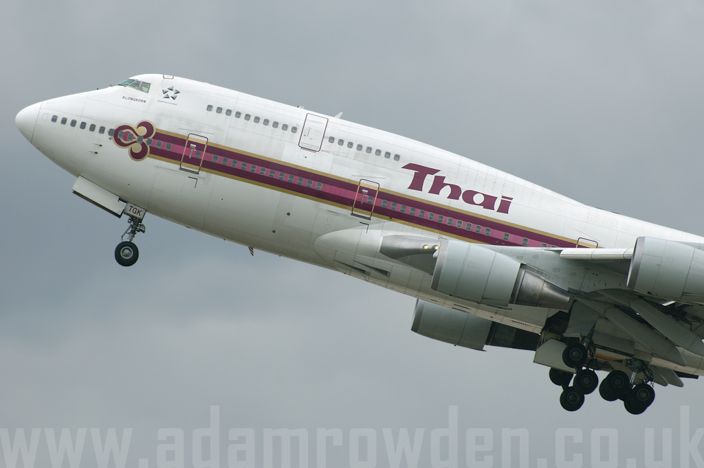 Photo of Thai Airways Boeing 747-4D7 HS-TGK (cn 24993/833) at London Heathrow Airport (LHR) on 18th March 2008