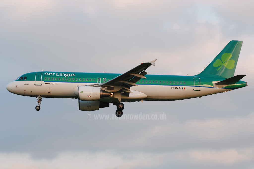 Photo of Aer Lingus Airbus A320-214 EI-CVB (cn 1394) at Manchester Ringway Airport (MAN) on 13th May 2008