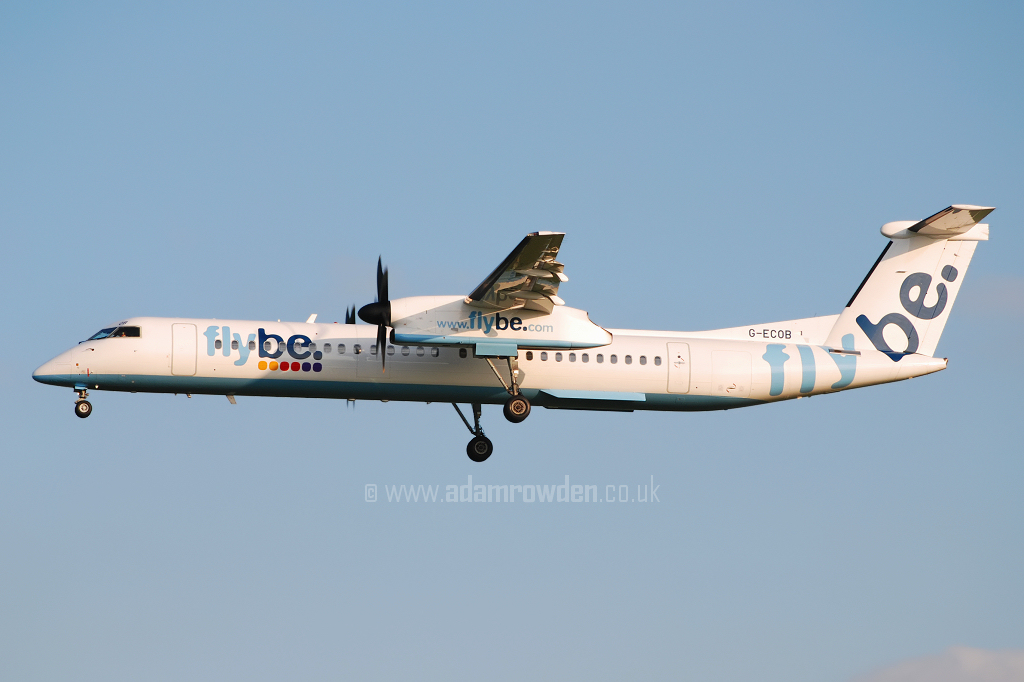 Photo of Flybe De Havilland Canada DHC-8-402Q Dash 8 G-ECOB (cn 4185) at Manchester Ringway Airport (MAN) on 13th May 2008
